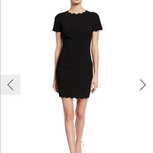 Likely black scalloped dress